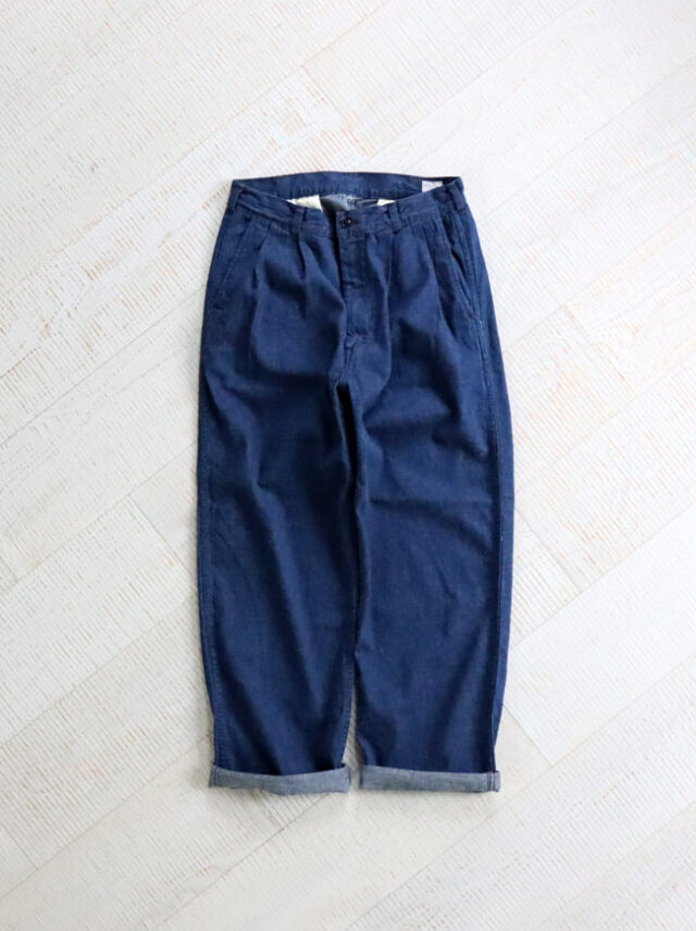 orSlow Two Tuck Denim Trousers