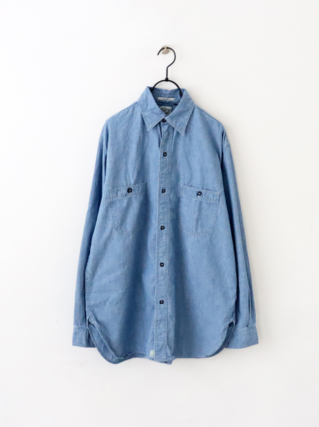 orSlow Vintage Fit Work Shirts -Used Chambray