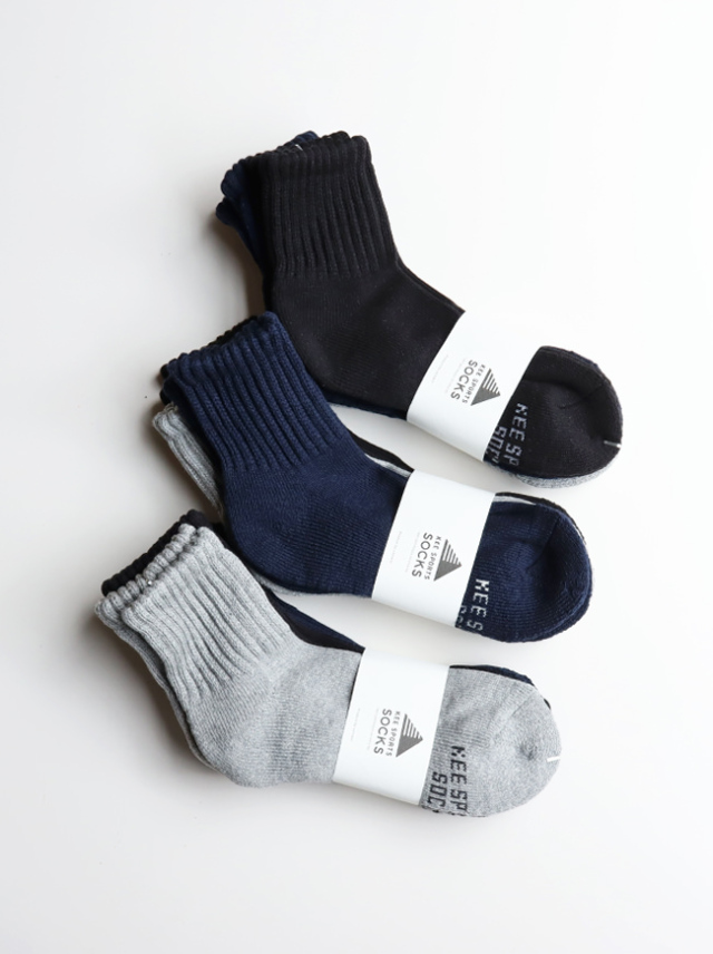 KEE SPORTS 3P STANDARD MIDDLE CUT SOCKS (ミドルカット・無地)