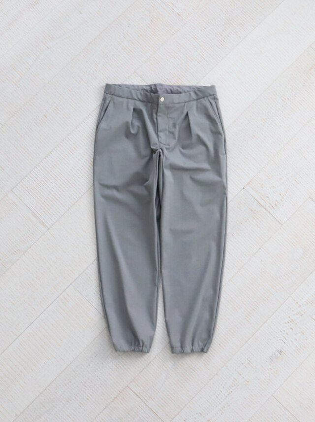 "CURLY BLANK RIB TROUSERS ""GRAY"" -ナイモノねだり"