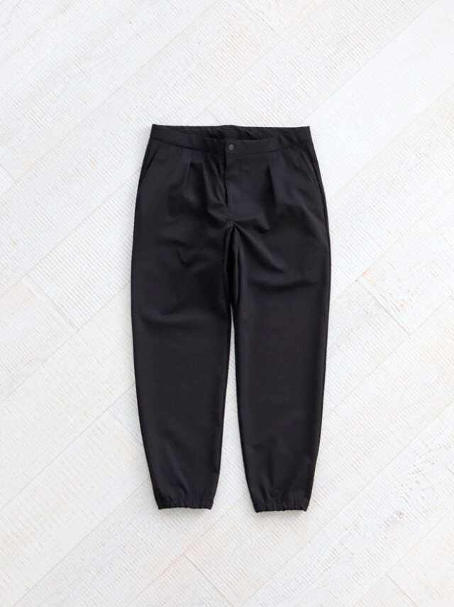 "CURLY BLANK RIB TROUSERS ""BLACK"" -ナイモノねだり"