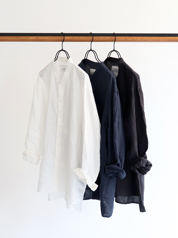 AUGUSTE-PRESENTATION Pajama Look L/S Stand Collar Shirts