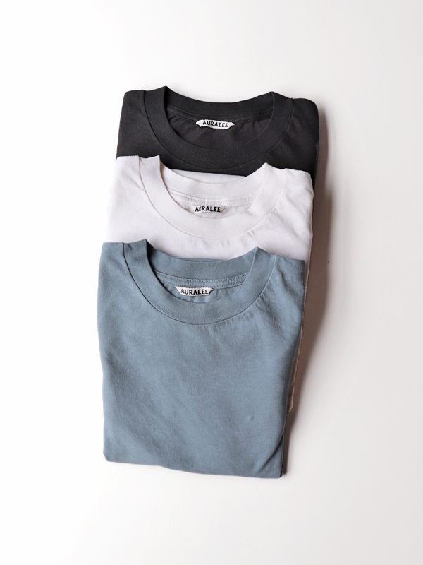 AURALEE TWIST COTTON CASHMERE L/S TEE