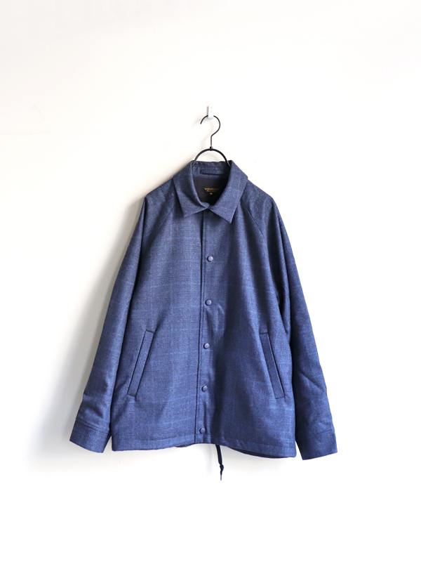 A Vontade Wool Coaches Jacket -2/60 Supper 100 Wool Flannel Check-