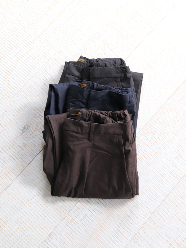 A Vontade 1 Tuck Tapered Easy Trousers