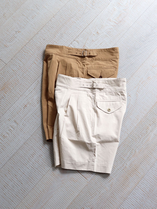 A Vontade Gurkha Shorts -40/- High Count Twill -Peach FaceA Vontade Gurkha Shorts -40/- High Count Twill -Peach Face