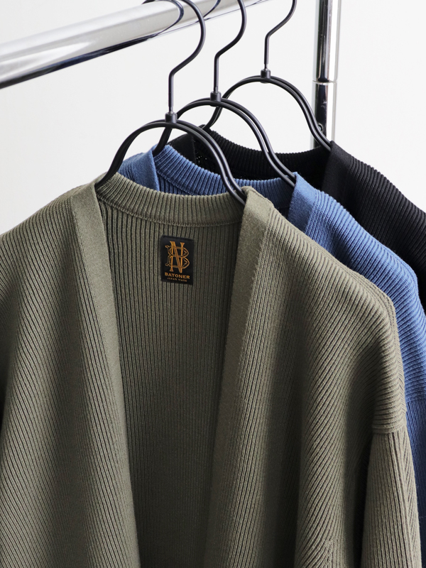 BATONER Men FORM-UP PLAIN CARDIGAN