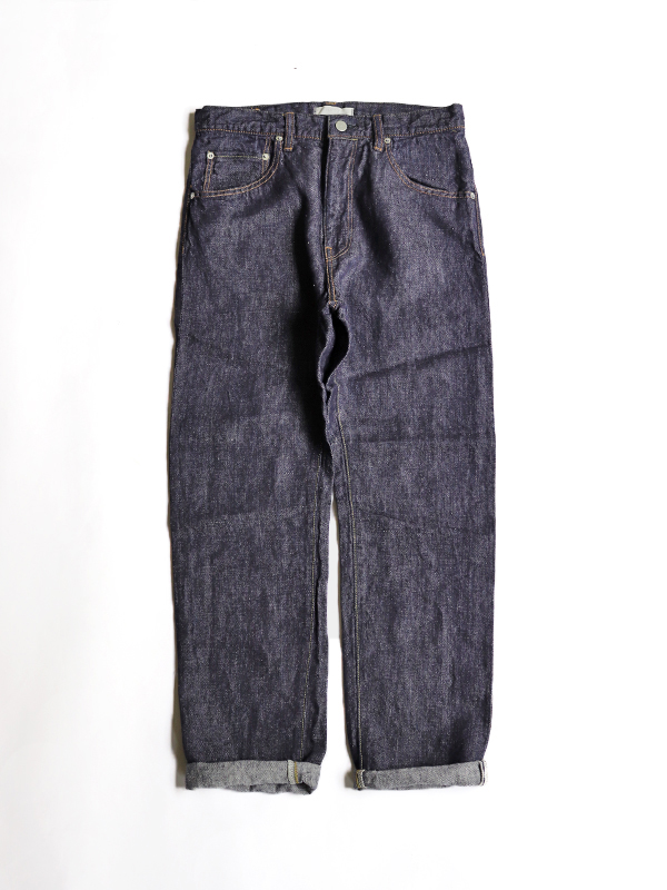 HATSKI Regular Tapered Denim -Linen