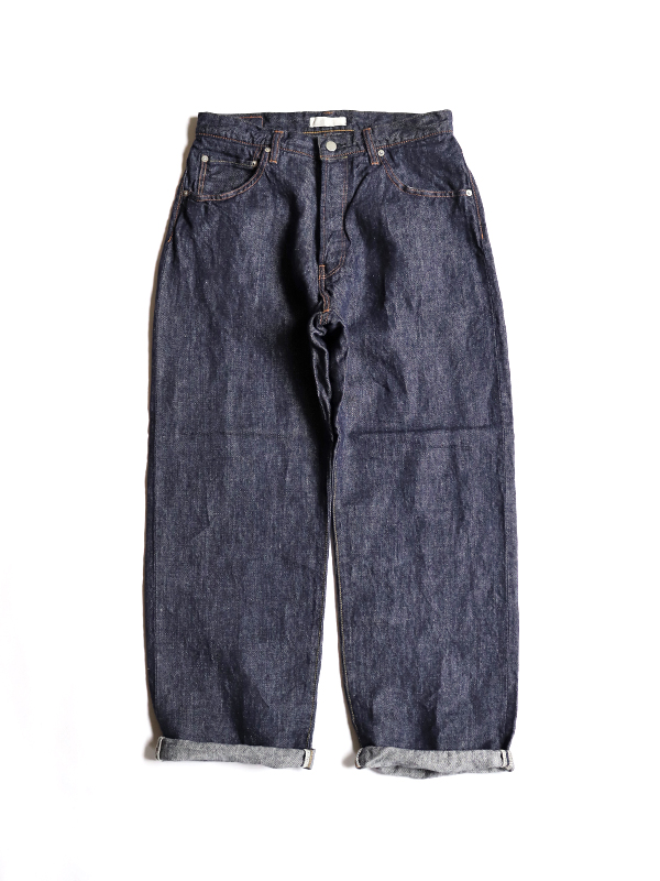 HATSKI Wide Tapered Denim -Linen