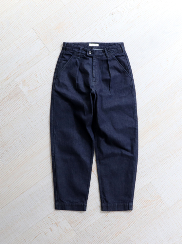 HATSKI Stitch Loose  Tapered Trousers -Denim
