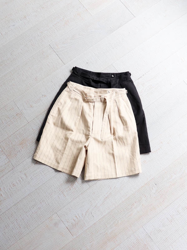 Kaptain Sunshine Riviera Gurkha Shorts -Finx Cotton Linen Twill