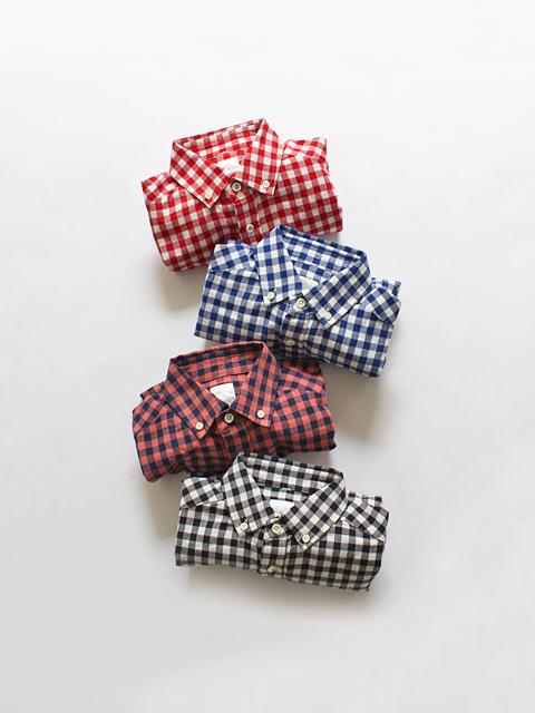 maillot (マイヨ) Sunset Big Gingham B.D. Shirts (ビッグギンガムB.D) MAS-003B
