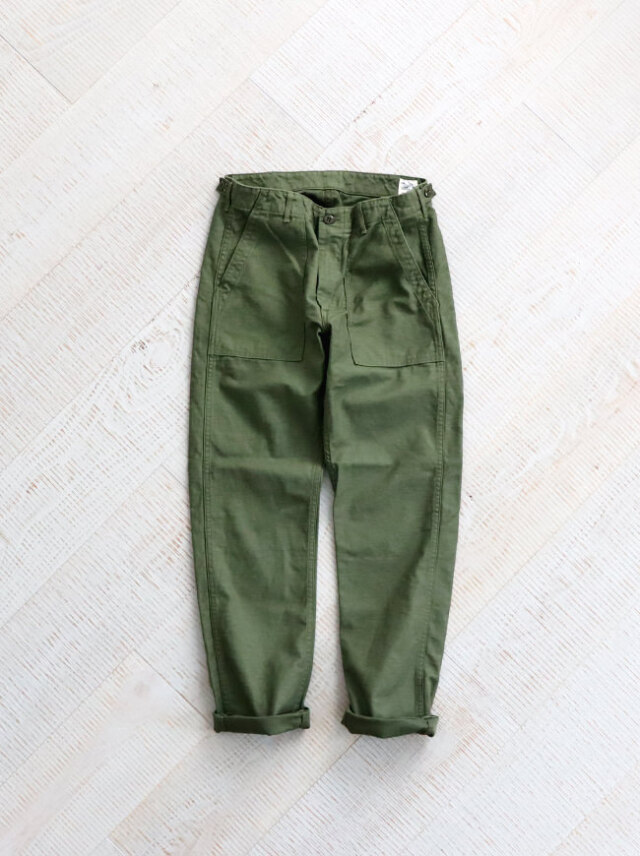 【20%OFF】orSlow Slim Fit Fatigue Pants -Green