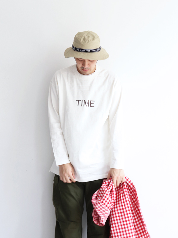 maillot (マイヨ) US Cotton Print Long Tee -TIME (USコットンプリントロングTeeシャツ) MAC-19120