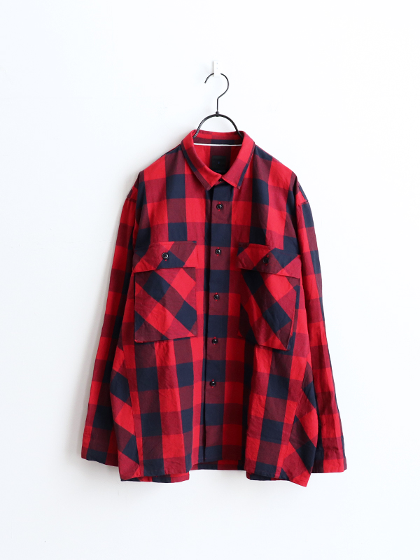 maillot (マイヨ) Buffalo Check Flight Shirt