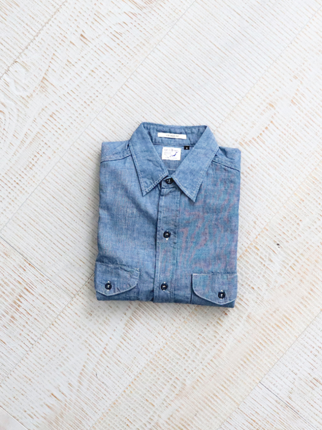 orSlow Utility Work Shirt -CHAMBRAY