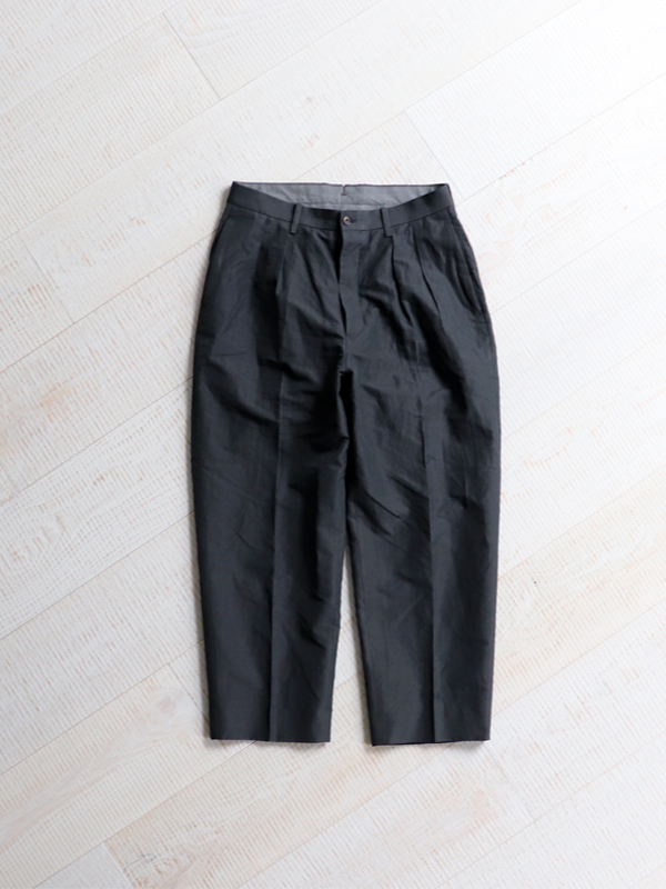 Phlannel  Cotton Ramie Weather Cloth 2 Tuck Trousers