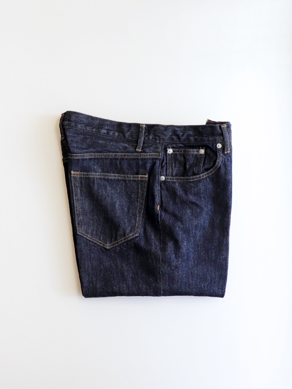 AURALEE HARD TWIST DENIM 5P PANTS -INDIGO