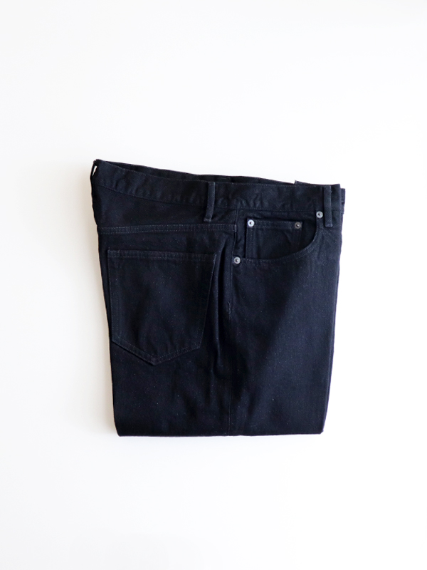 AURALEE HARD TWIST DENIM 5P PANTS -BLACK
