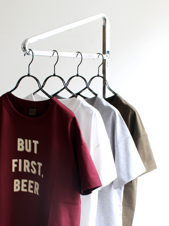 A Vontade 6.5oz Silket Print T-Shirts - Loose Fit - BUT FIRST. BEER