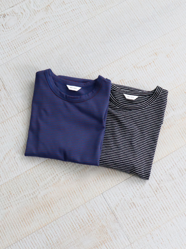 WELLDER Wide Fit Border T-Shirts