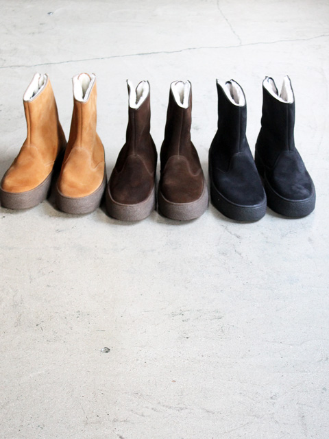 hobo Cow Suede Curling Boots By SANDERS