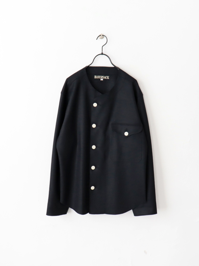 HAVERSACK Compressed Knitted Melton No Collar Jacket -ナイモノねだり