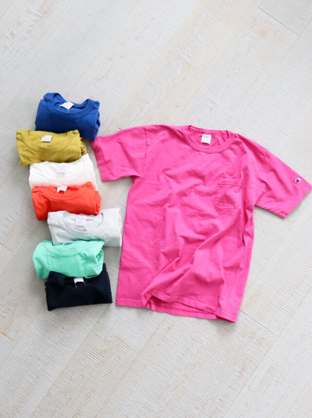 Champion T1011 US T-SHIRT WITH POCKET(無地)