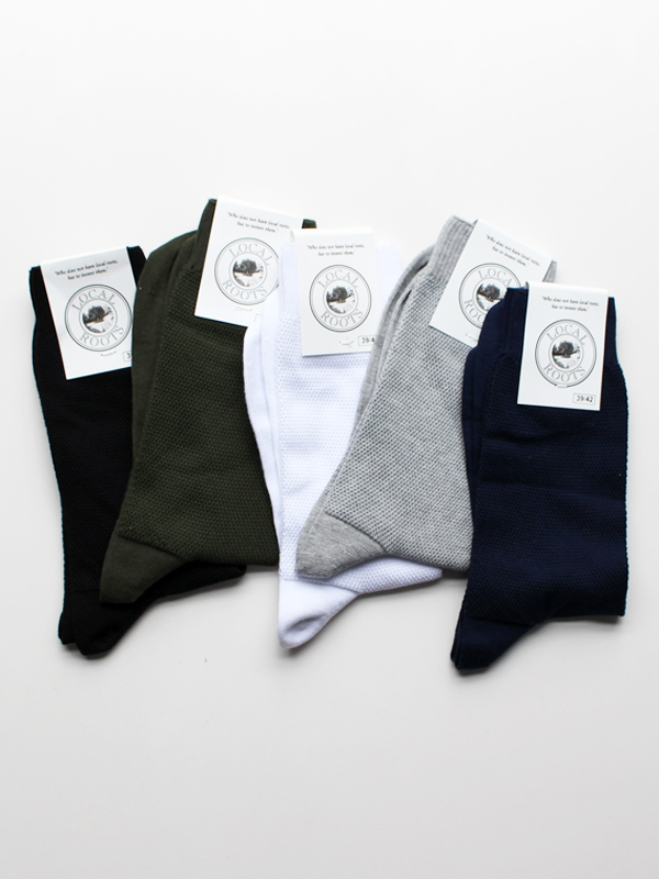 LOCAL ROOTS PIQUE SOCKS