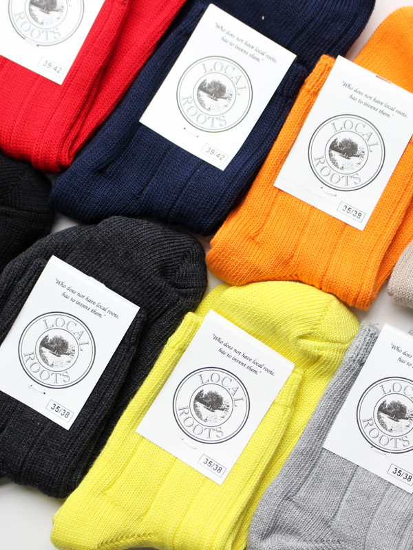 LOCAL ROOTS COTTON SHORT RIB SOCKS