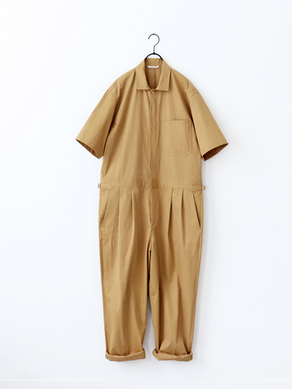 AURALEE WASHED CAVALRY TWILL JUMPSUIT