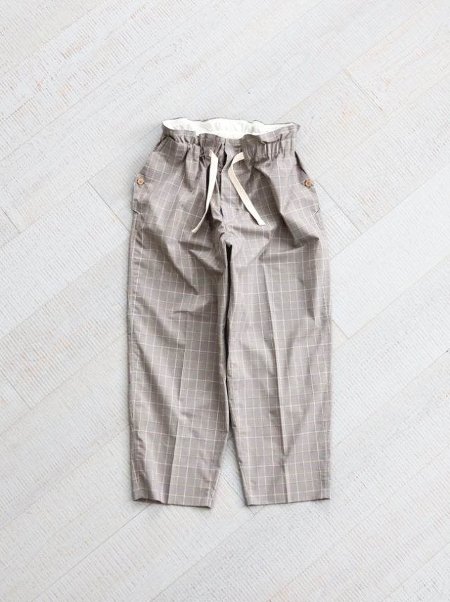 "HAVERSACK Check Wide Easy Pants ""GRAY"" -ナイモノねだり"
