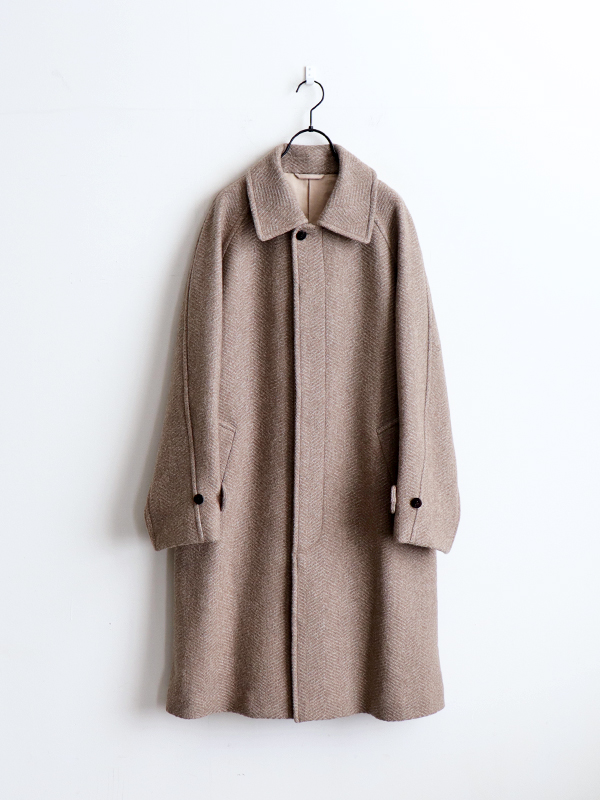 Phlannel  Mix Tweed Balmacaan Coat