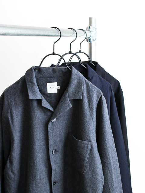RINEN リネン 2/80 Wool Pajama Shirt