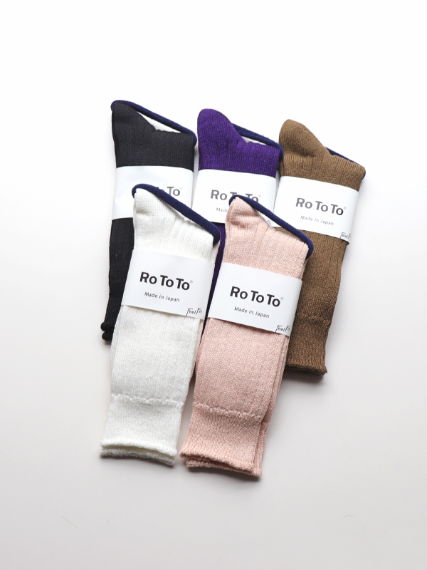 RoToTo  Linen Cotton Rib Socks