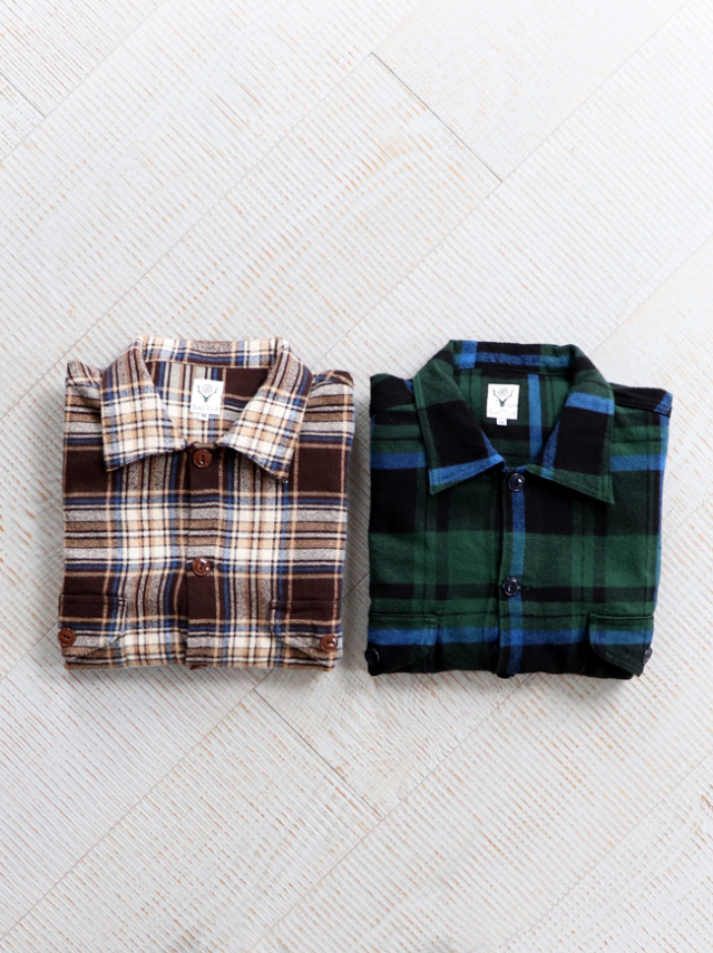 SOUTH2 WEST8 SMORKEY SHIRTS - Cotton Twill / Plaid