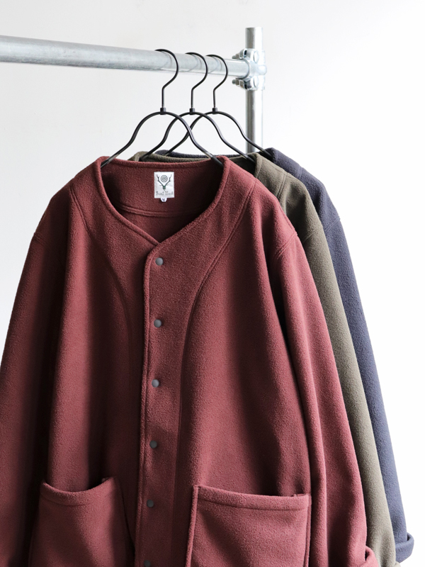 SOUTH2 WEST8 Patched Pocket Cardigan - Poly Fleece