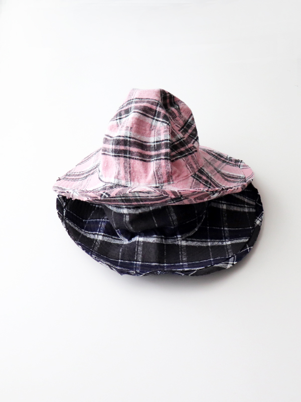 YSTRDYS TMRRW PLAID GROWN UP HAT by COMESANDGOES