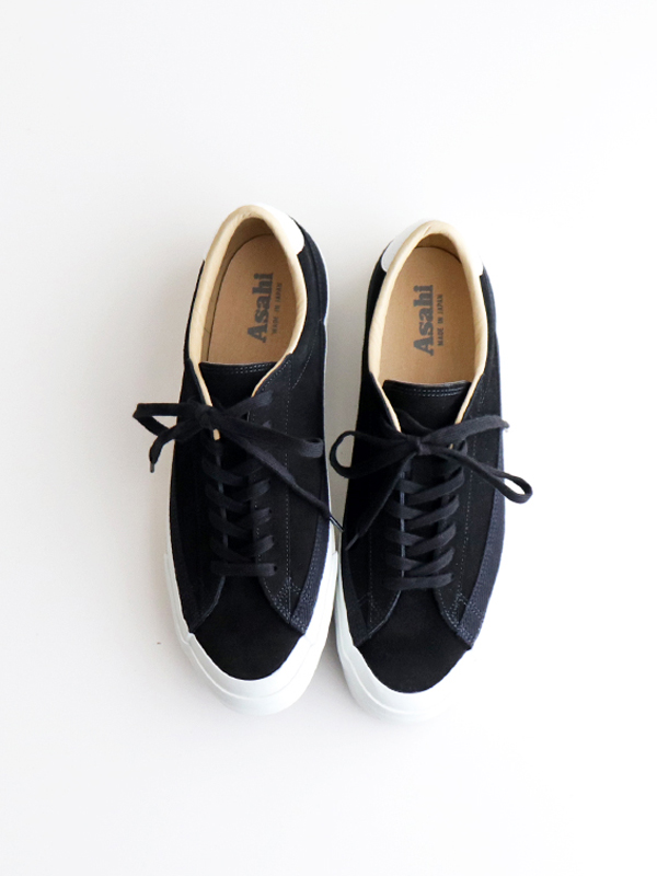 ASAHI BELTED LOW SUEDE -Black