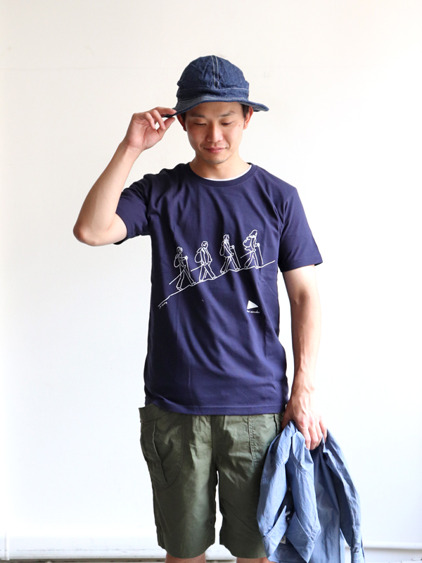and wander  quarted printed T by Yu nagaba