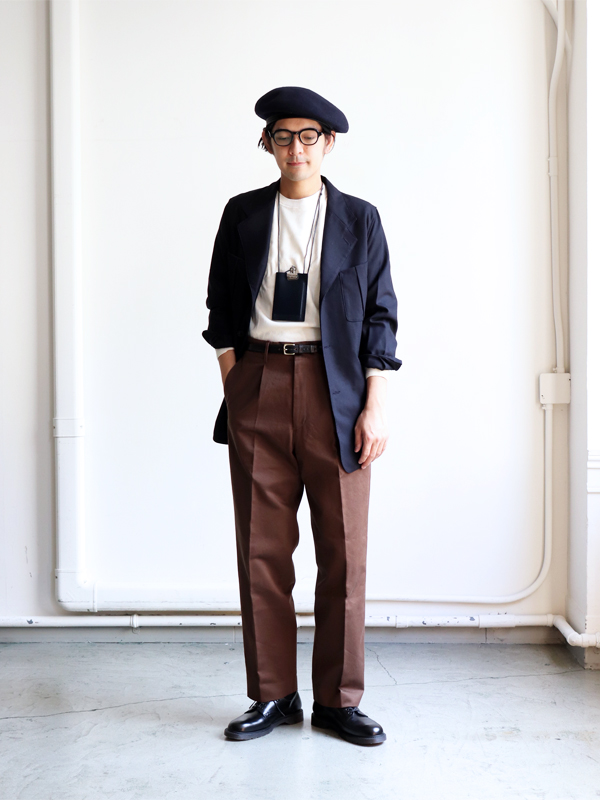 AURALEE WASHED FINX CHINO TAPERD PANTS
