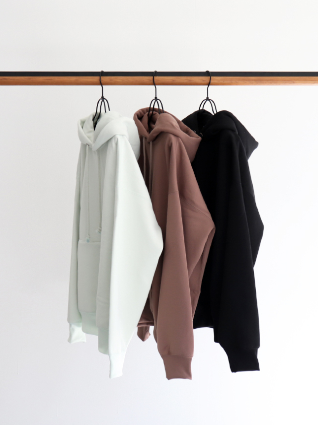 AURALEE BAGGY POLYESTER SWEAT P/O PARKA