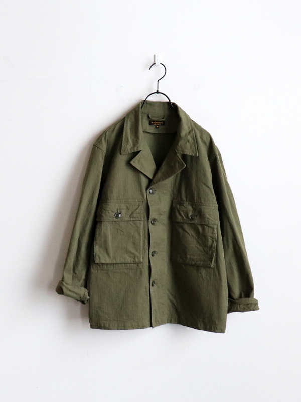 A Vontade Short Fatigue Jacket -Military Herringbone-
