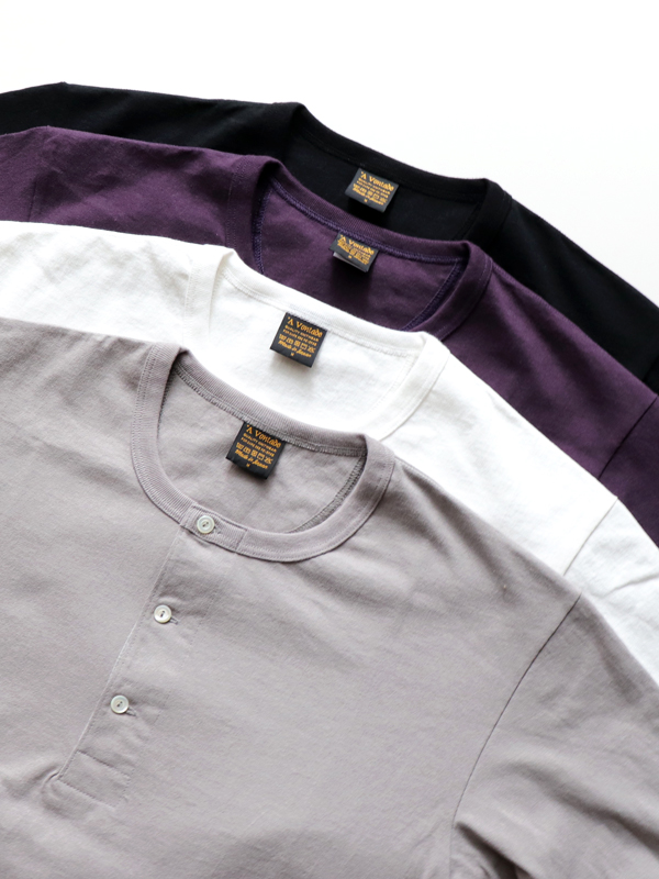 A Vontade Henly Neck L/Sleeve Tube T-Shirt