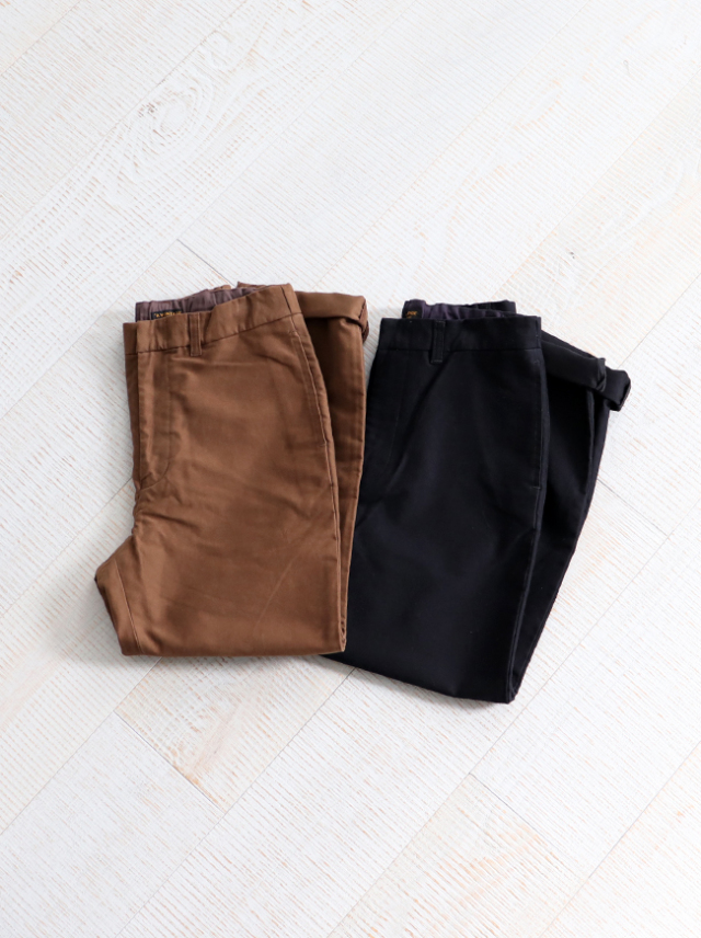 A Vontade Cotton Suede Easy Trousers