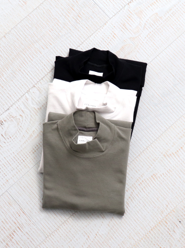 CURLY STATIC LS MOCK NECK
