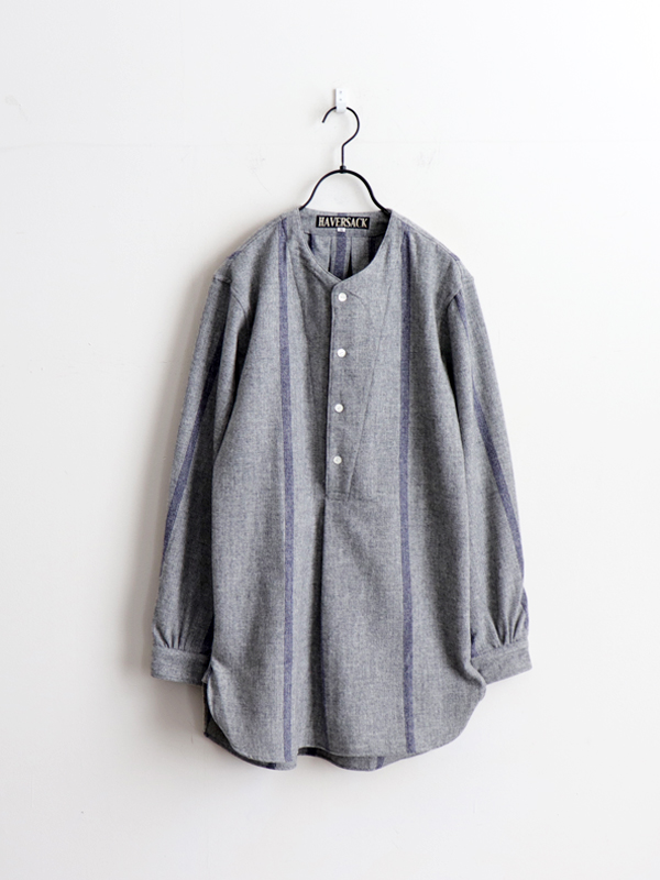 HAVERSACK Etamine Stripe No Collar P/O Shirt