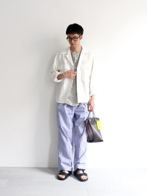 HAVERSACK Linen Serge Shirt Jacket