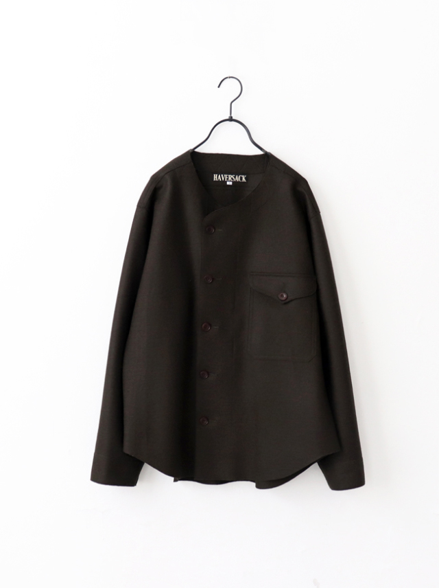 HAVERSACK Boiled Plain Stitch Melton Shirt Jacket