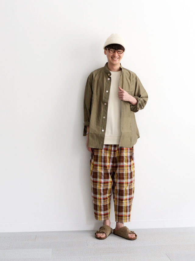 HAVERSACK ATTIRE Madras Check Pleated Trousers
